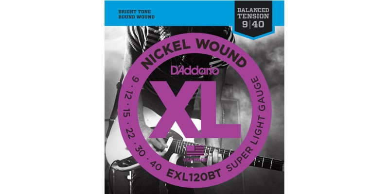 D'addario EXL120BT Electric Guitar Strings Balanced Tension
