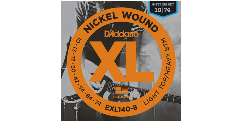 D'Addario EXL140-8 Nickel Wound Guitar 8-String Set 10-74