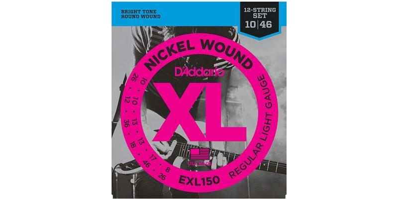 D Addario Exl150 Nickel Wound 12 String Regular Light
