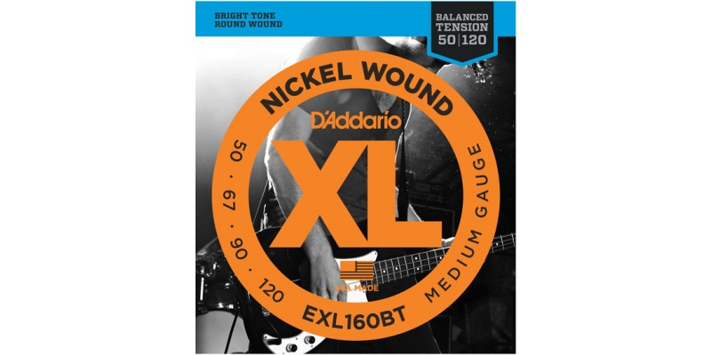 D'Addario EXL160BT Balanced Tension Nickel Bass Strings