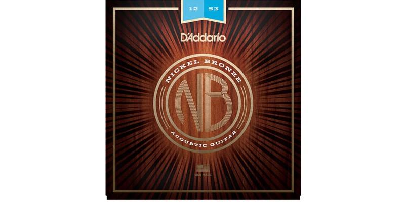 D'Addario Nickel Bronze Wound NB1253 Acoustic Strings 12-53