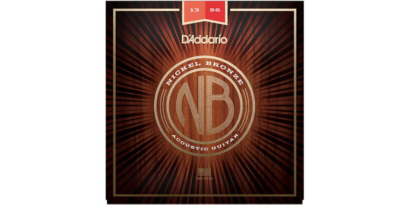 D'Addario Nickel Bronze Wound NB1356 Acoustic Strings 13-56