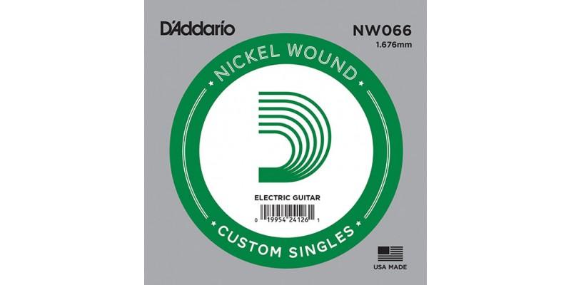 D'Addario NW066 Nickel Wound Guitar Single String