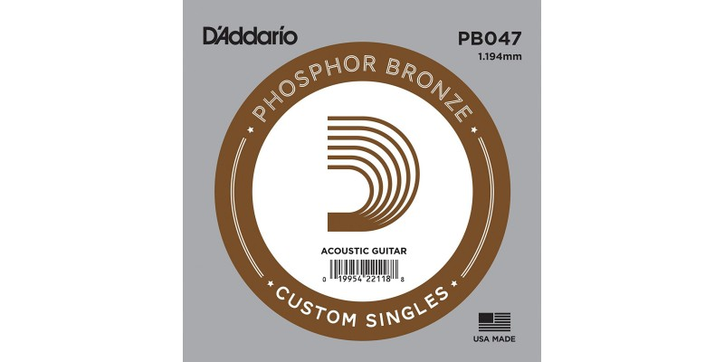 D'Addario PB047 Acoustic Phosphor Bronze String