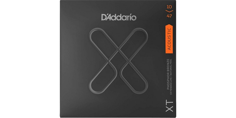 D'Addario XTAPB1047 XT Phosphor Bronze Acoustic Guitar Strings Extra Light 10-47 Front