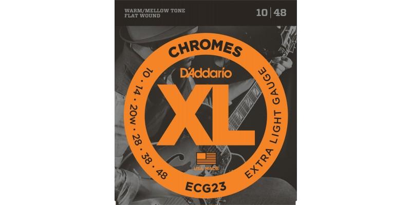 D'Addario ECG23 Chromes Flatwound Extra Light 10-48