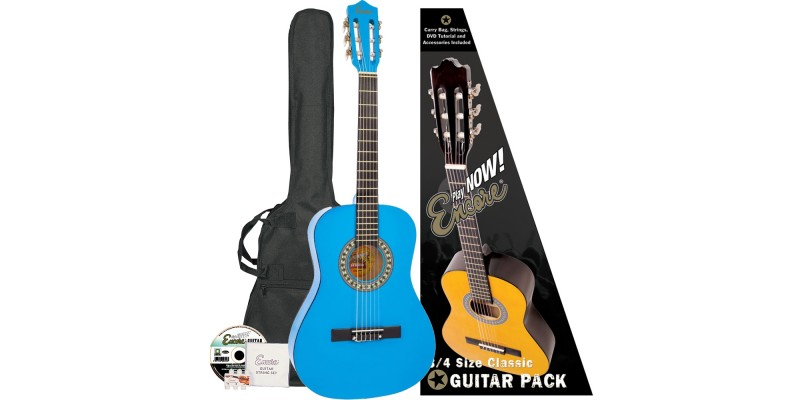Encore 3/4 Size Classical Guitar Pack Blue Pack