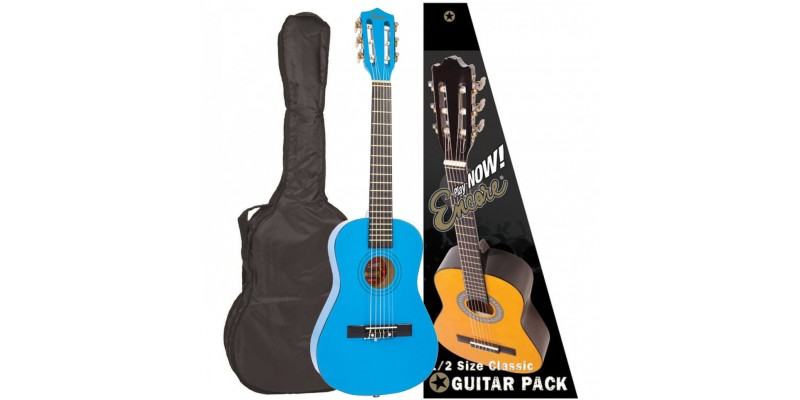 Encore 1/2 Size Classical Guitar Pack Metallic Blue Front