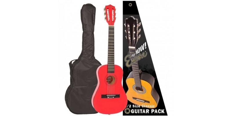Encore 1/2 Size Classical Guitar Pack Metallic Red Main