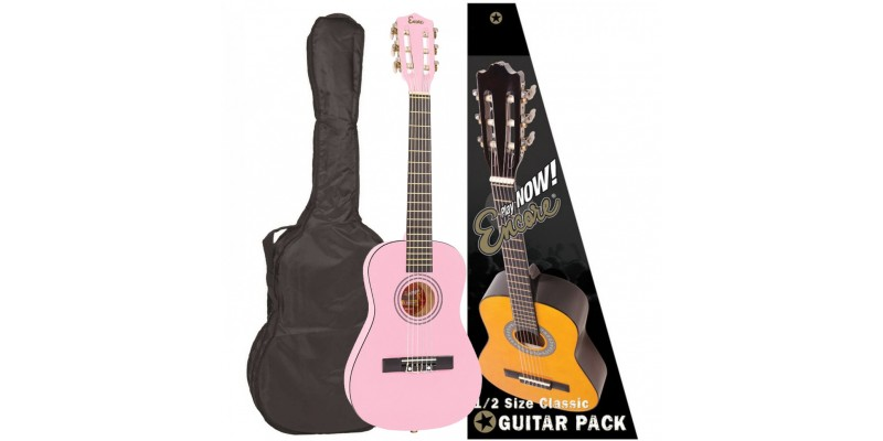 Encore 1/2 Size Classical Guitar Pack Pink Main