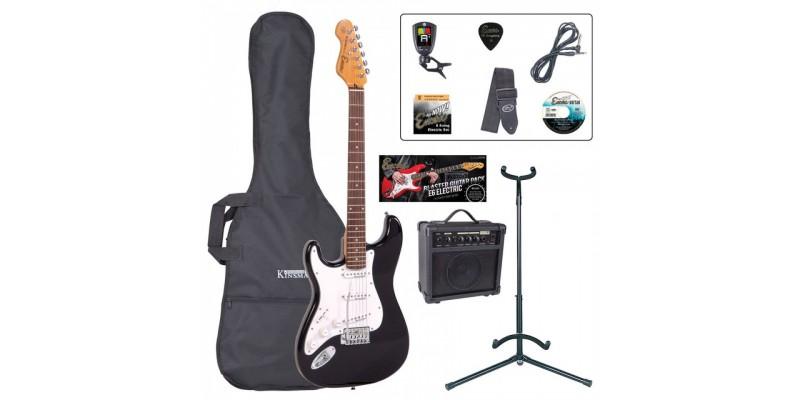 Encore E6 Left Hand Electric Guitar Package Black Main