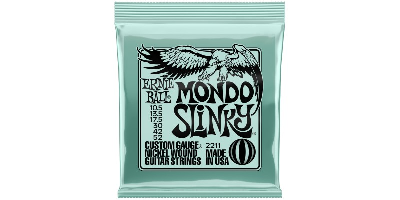 Ernie Ball Mondo Slinky Nickel Wound Electric Guitar Strings 10.5-52 Gauge Front