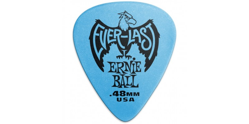 Ernie Ball Everlast Picks Blue .48mm Bag Of 12 Bag Main
