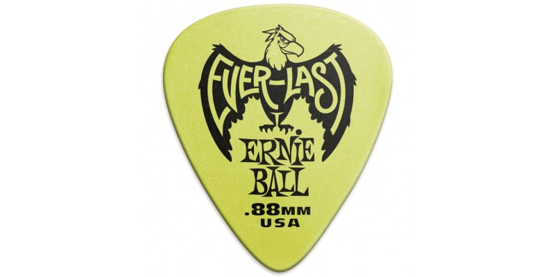 Ernie Ball Everlast Picks Green .88mm Bag Of 12 Main