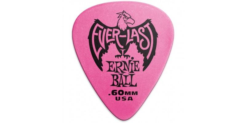 Ernie Ball Everlast Picks Pink .60mm Bag Of 12 Main