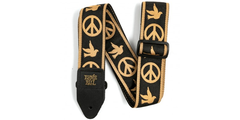 Ernie Ball Jacquard Guitar Strap Peace Love Dove