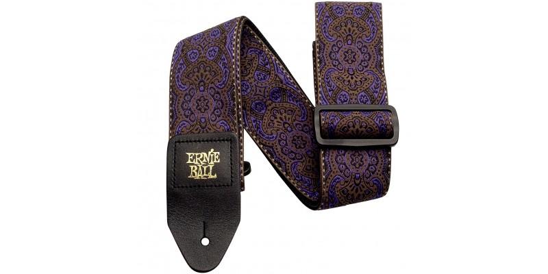 Ernie Ball Jacquard Guitar Strap Purple Paisley