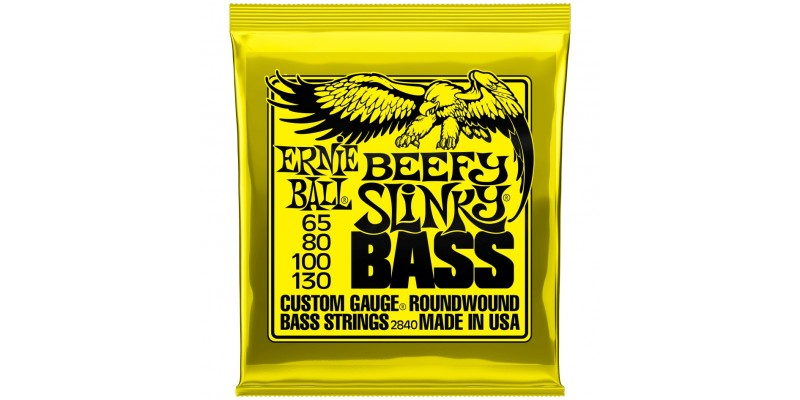 Ernie Ball Beefy Slinky Nickel Wound Electric Bass Strings 65-130 Front