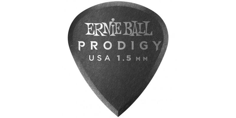 Ernie Ball Mini Prodigy Picks Black 1.5mm Bag of 6 Main