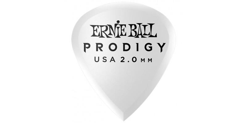 Ernie Ball Mini Prodigy Picks White 2mm Bag of 6 Main