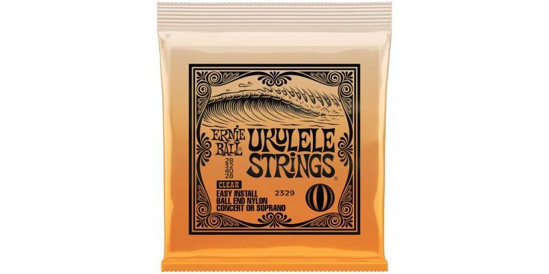 Ernie Ball Ukulele Ball End Clear Nylon Strings Front