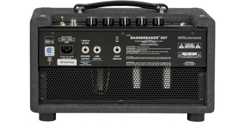 Fender Bassbreaker 007 Head Guitar Amp