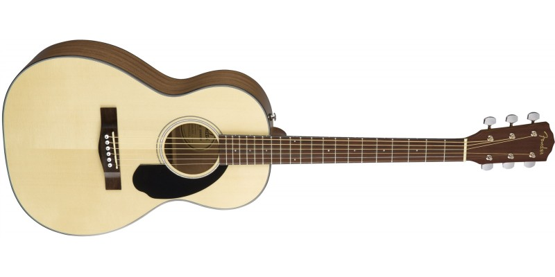 Fender CP-60S Natural Acoustic Parlour Guitar Angle