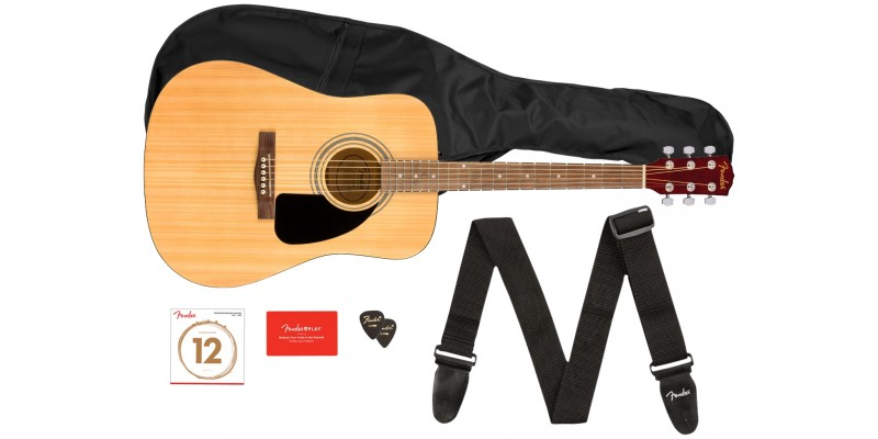 Fender FA-115 Dreadnought Pack Natural Front