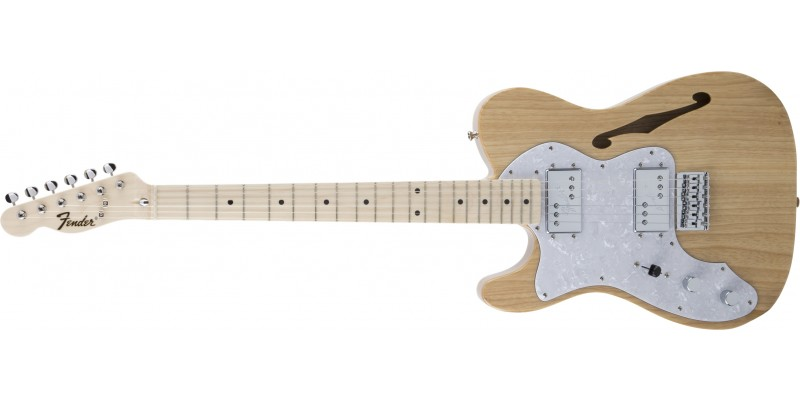 Fender-MIJ-Traditional-70s-Telecaster-Thinline-Left-Handed-Natural-Front