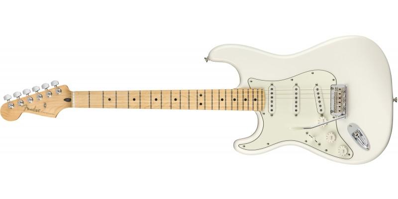 Fender-Player-Stratocaster-Left-Handed-Maple-Fingerboard-Polar-White-Front
