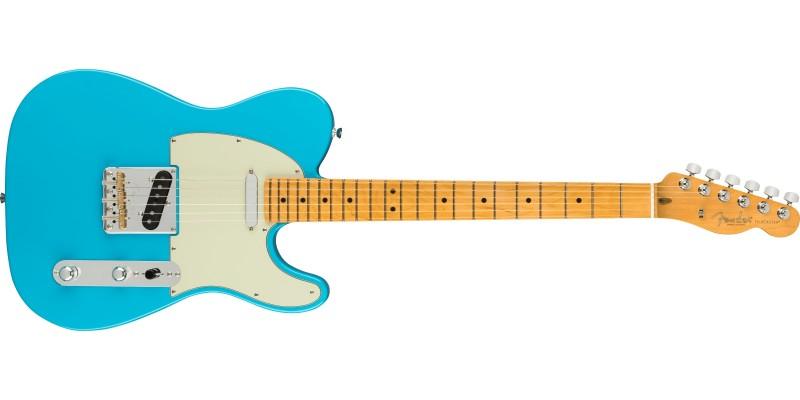 Fender American Professional II Telecaster Miami Blue Maple Front