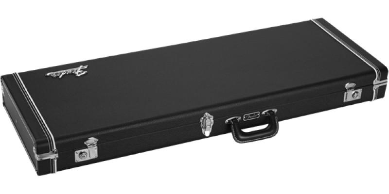 Fender Classic Series Wood Case Strat Tele Black Flat