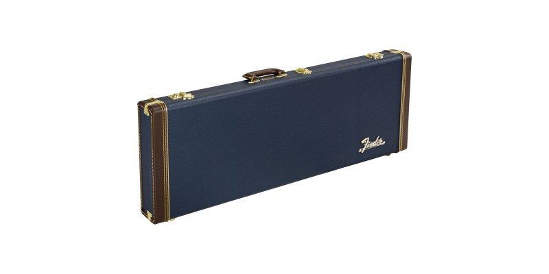 Fender Classic Series Wood Case Strat Tele Navy Blue Front