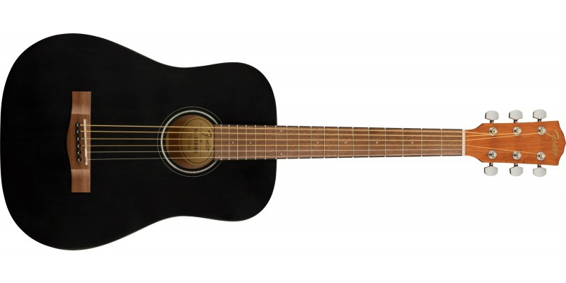 Fender FA-15 Three Quarter Scale Steel with Gig Bag Black Front
