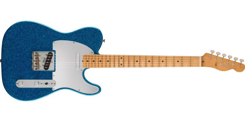 Fender J Mascis Telecaster Bottle Rocket Blue Flake Front