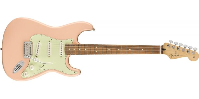 Fender LTD Player Strat Shell Pink Pau Ferro Front