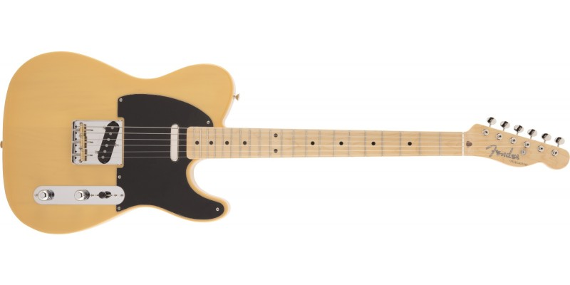 Fender Made in Japan Traditional 50s Telecaster Maple Fingerboard Butterscotch Blonde Front