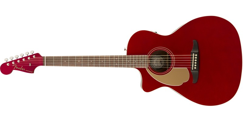 Fender Newporter Player Left Handed Candy Apple Red Front