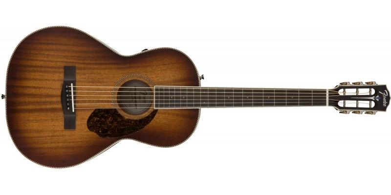 Fender PM-2E Parlor Limited Aged Cognac Burst Front