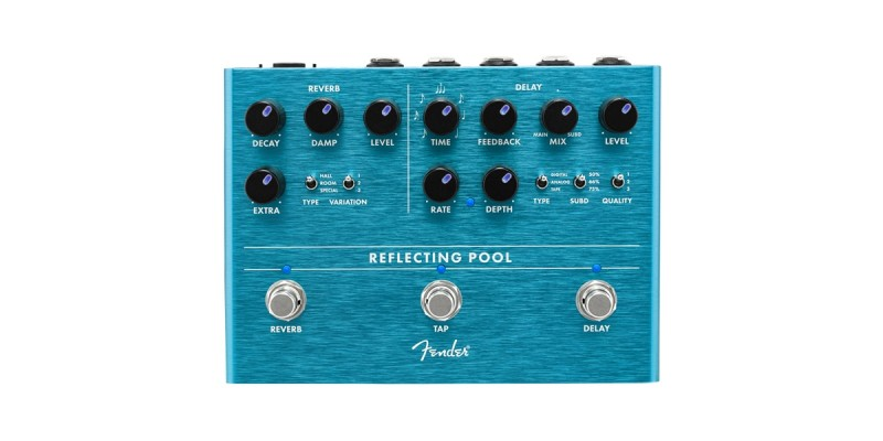 Fender Reflecting Pool Delay Reverb Pedal Front