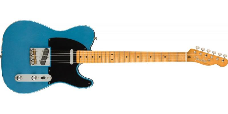 Fender Vintera Road Worn 50s Telecaster Maple Fingerboard Lake Placid Blue Front