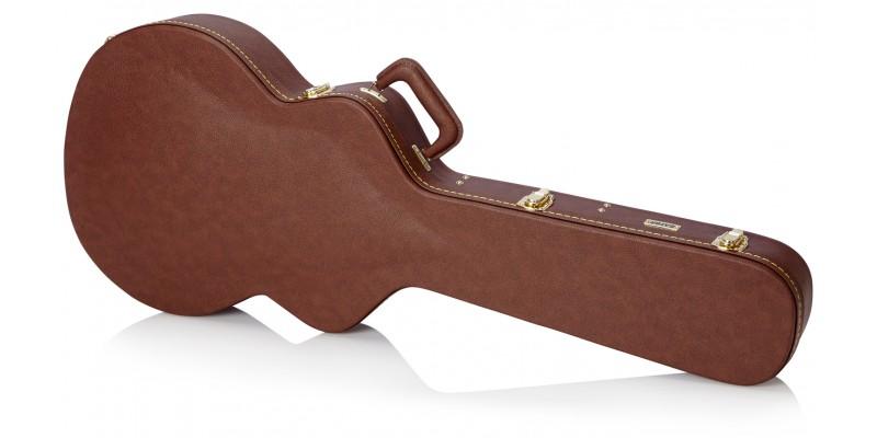 Gator GW-335-BROWN Semi Acoustic Guitar Case Closed 2