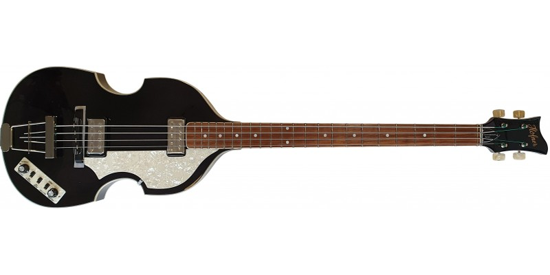 Hofner Violin Bass Contemporary Series Transparent Black Flame Maple Front