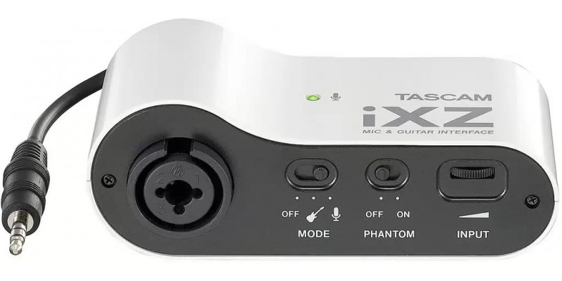 Tascam iXZ Mic & Guitar Interface for Apple iOS Devices