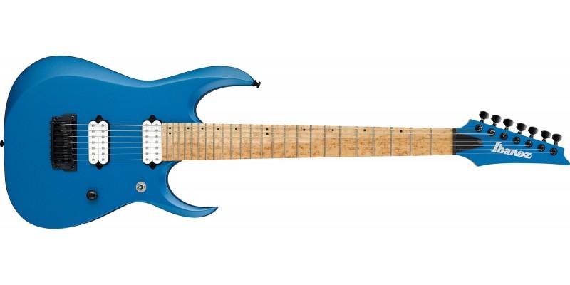 Ibanez-RGDIR7M-Laser-Blue-Matte-Front