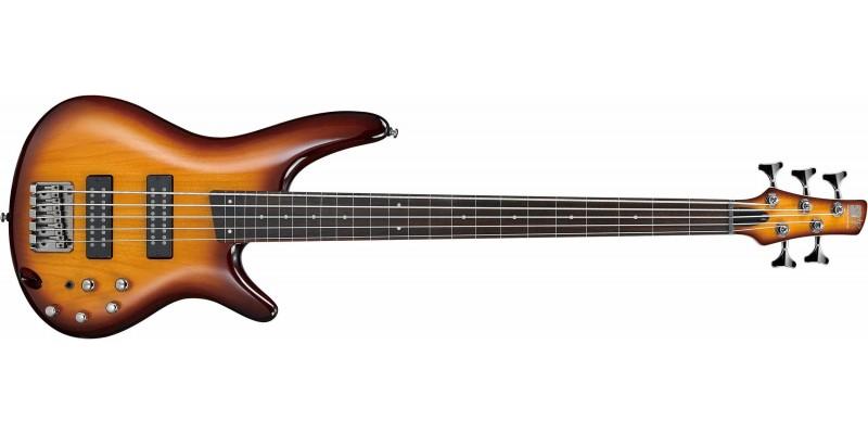 Ibanez SR375EF 5-String Fretless Bass Limited Edition Brown Burst 2018 Front