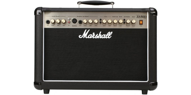 Marshall AS50DB Black Acoustic Guitar Amp Combo