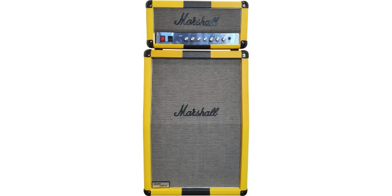 Marshall-Custom-Shop-2525H-and-2536A-Yellow-with-Black-Stripe-Half-Stack-Front