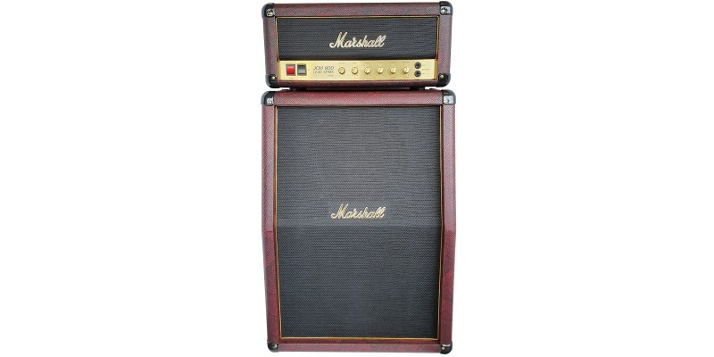 Marshall Studio Classic SC20H With SC212 Burgundy Snakeskin Half Stack Pack Front