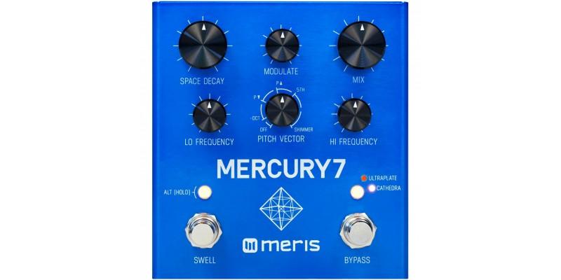 Meris Mercury7 Reverb Pedal Front